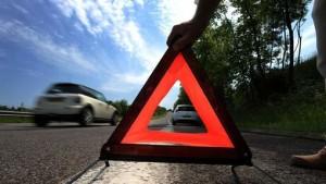 Panneau de signalisation d'un véhicule en panne