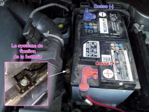 La batterie voiture et les cosses