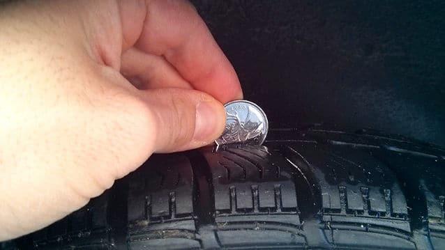 Usure des pneus, la vérifier avec une pièce de monnaie